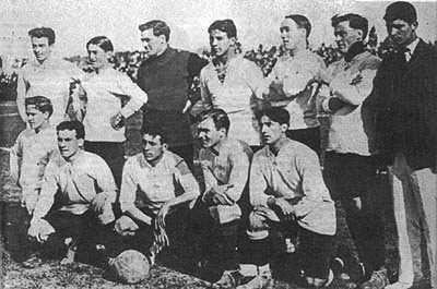 The Uruguay team that won its first title in 1916. Uruguay Copa America 1917.jpg