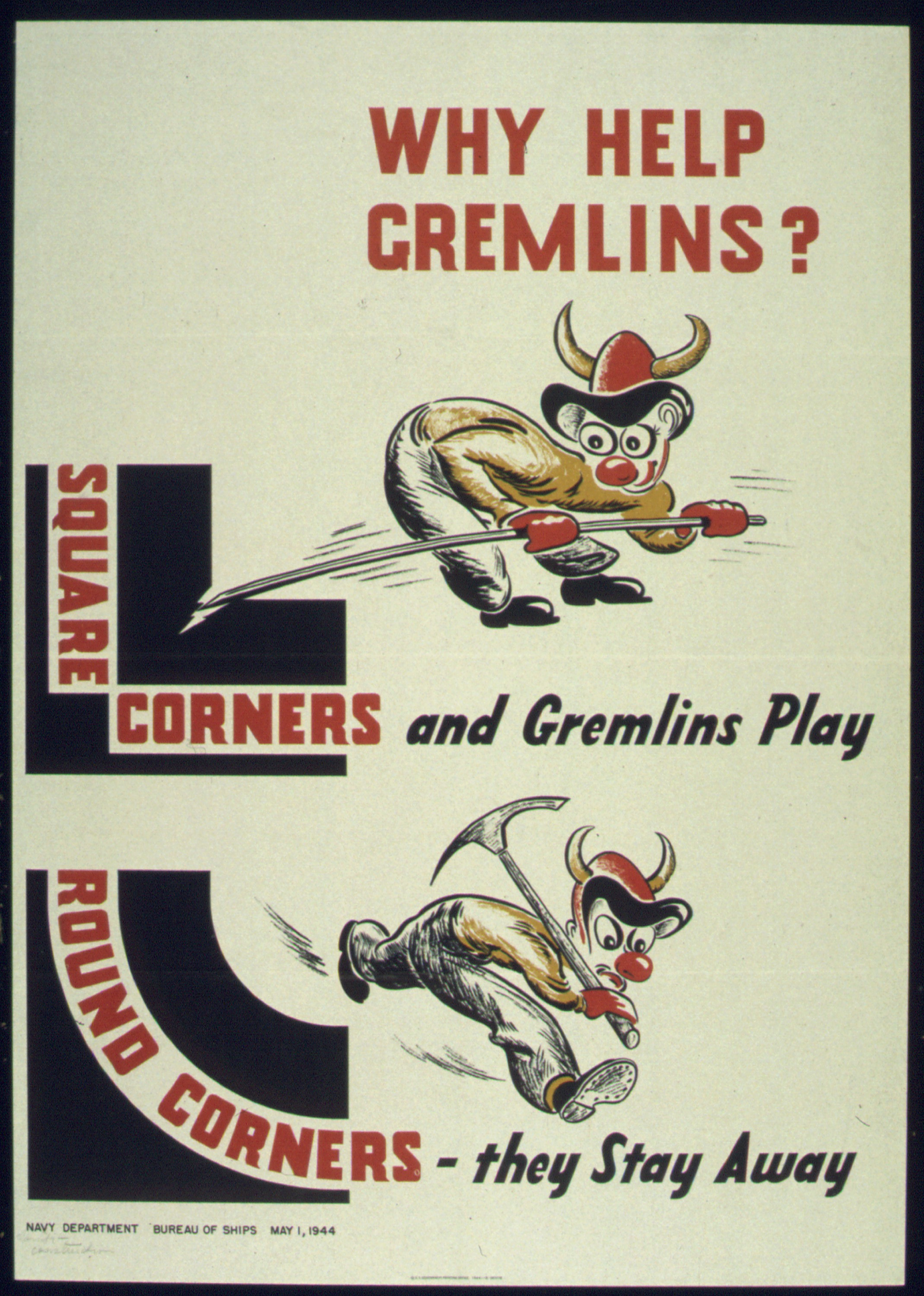 Gremlin appears on this poster issued by the us government during