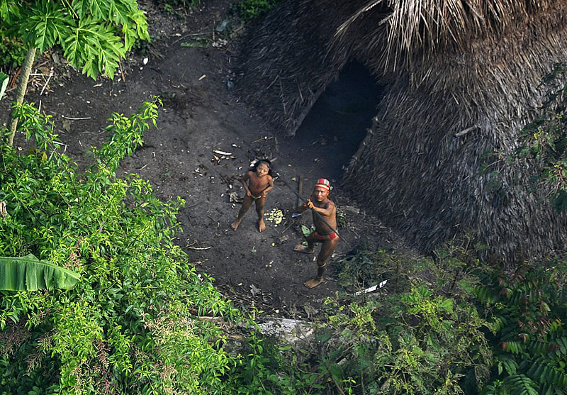 photo of uncontacted tribe