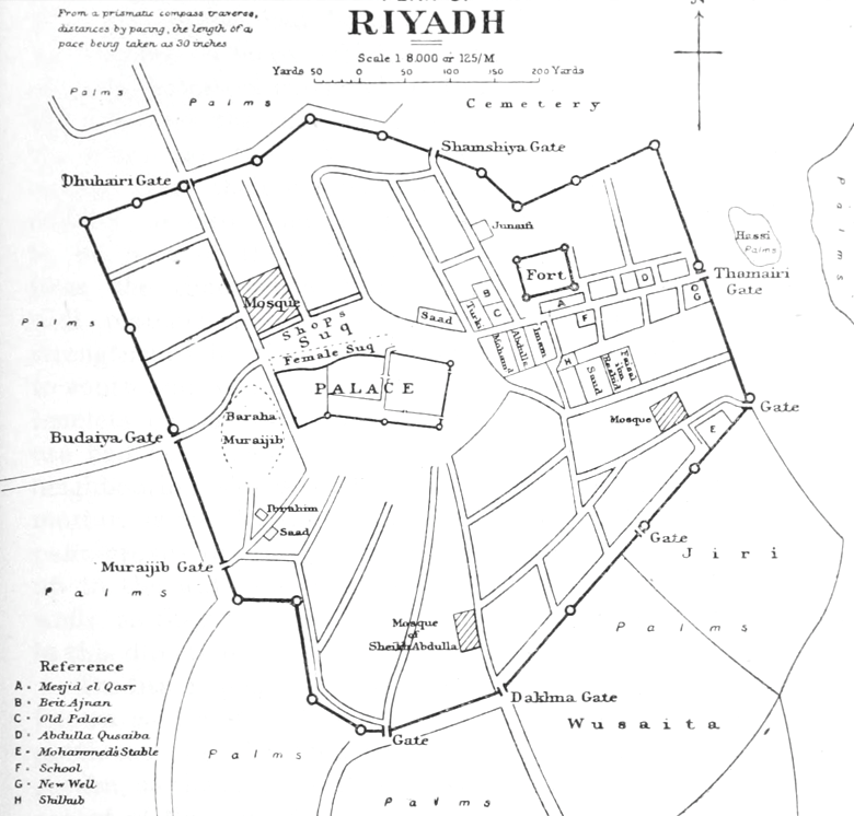File1922 map Riyadh by Philbypng Wikimedia Commons