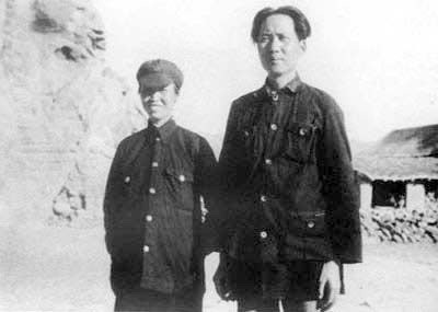 1936 Mao and third wife He Zizhen.jpg