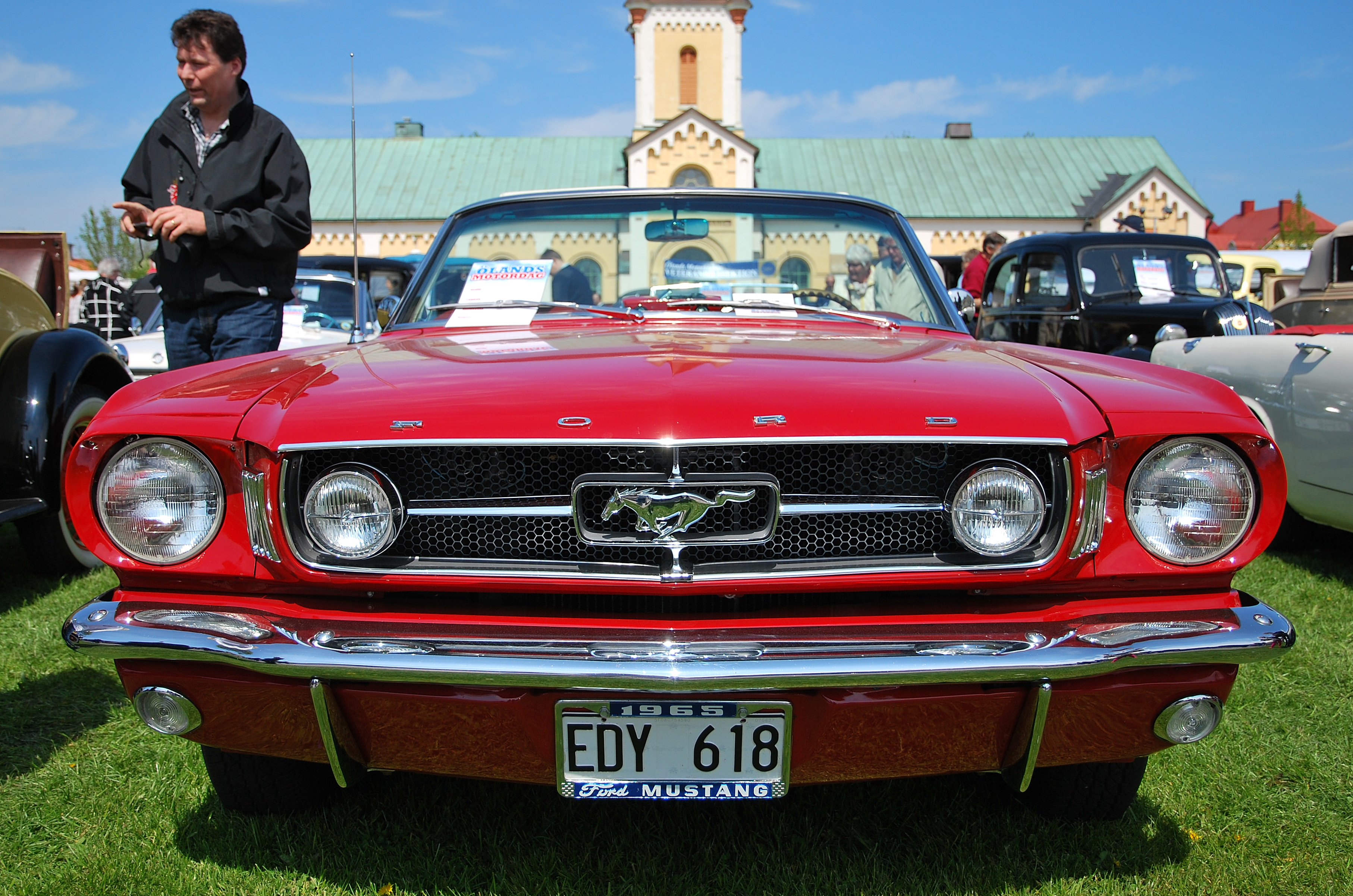 ford mustang front view. file:1965 ford mustang convertible at Ölands motordag 2012 (front view).jpg front view n
