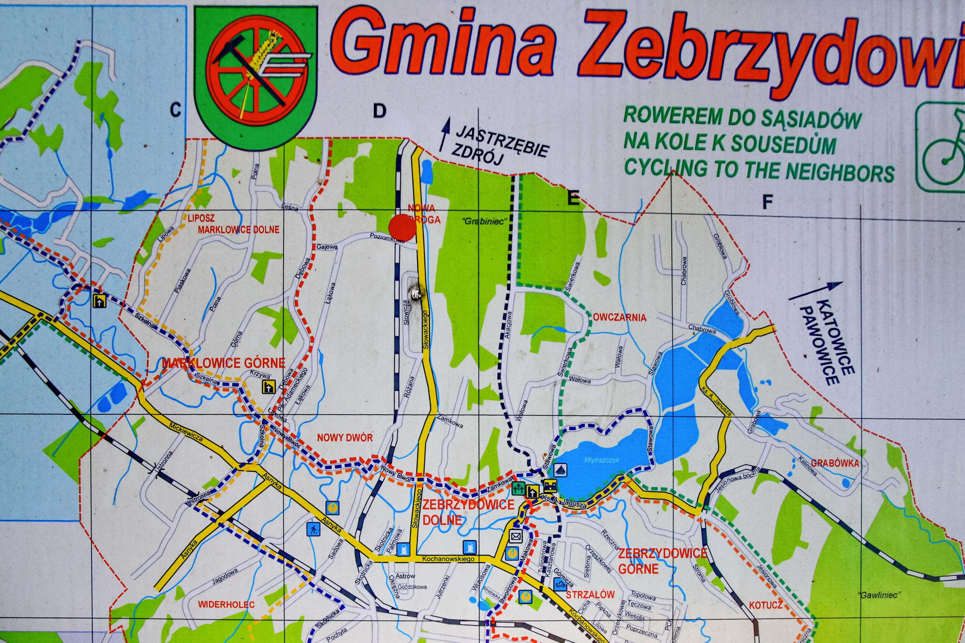 File 2012 Powiat Cieszynski Zebrzydowice Mapa Turystyczna Gminy