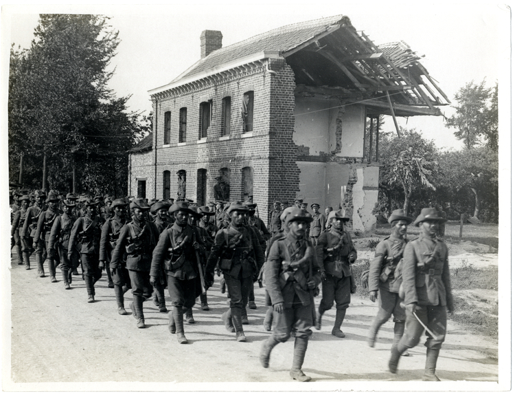 File:39th Garhwali Riflemen on the march in France (Photo 24-238).jpg
