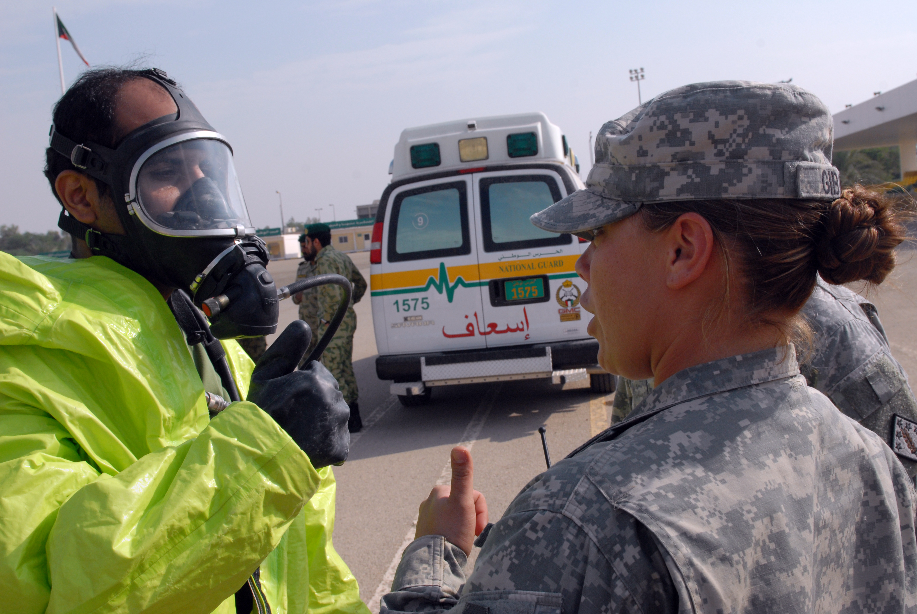 File:A Kuwait National Guard member, left, and U S  Army Sgt