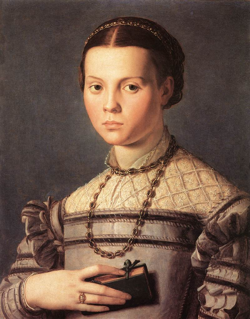 Renaissance young girl portrait