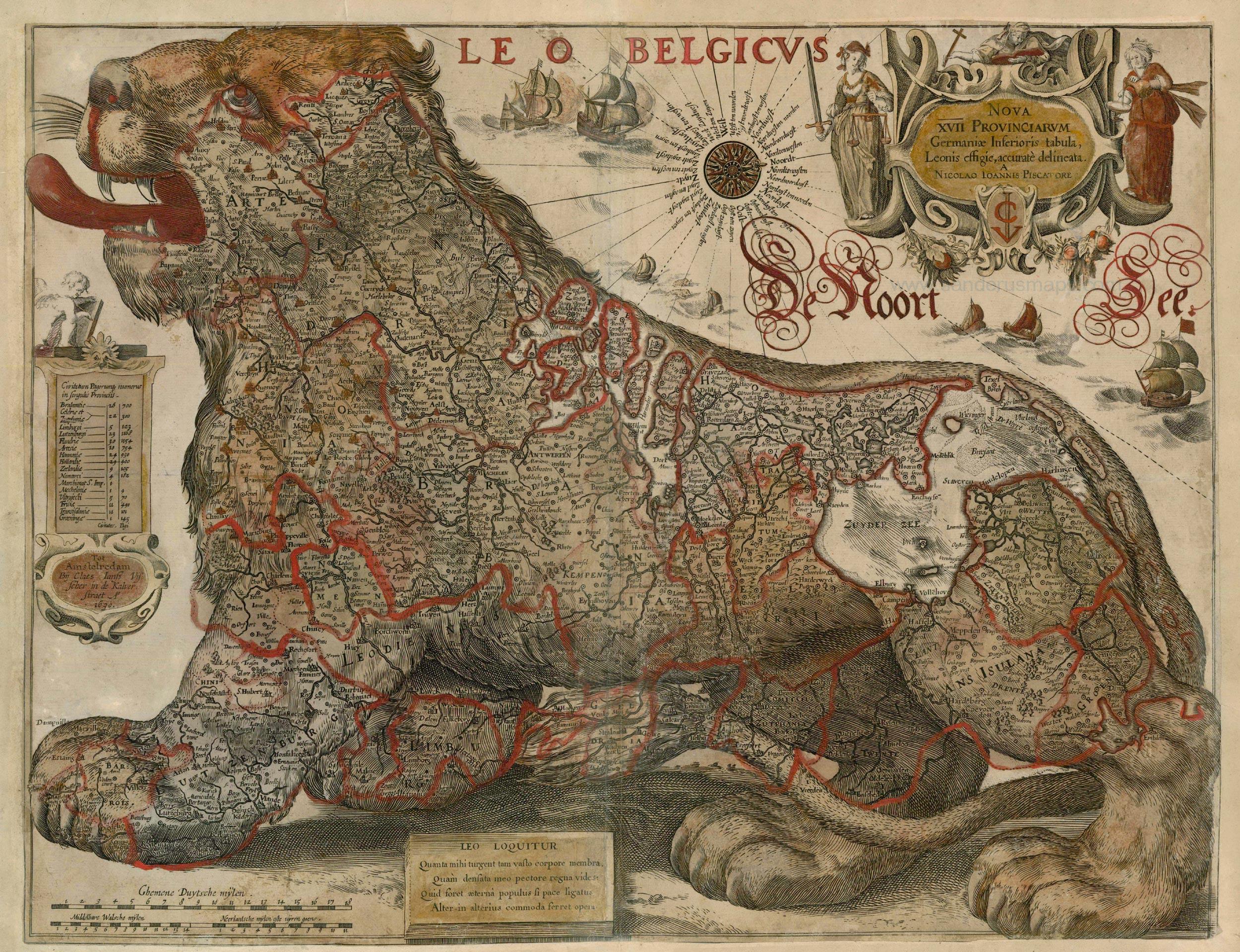 fileantique map of leo belgicus by visscher cj  gerritsz . fileantique map of leo belgicus by visscher cj  gerritsz