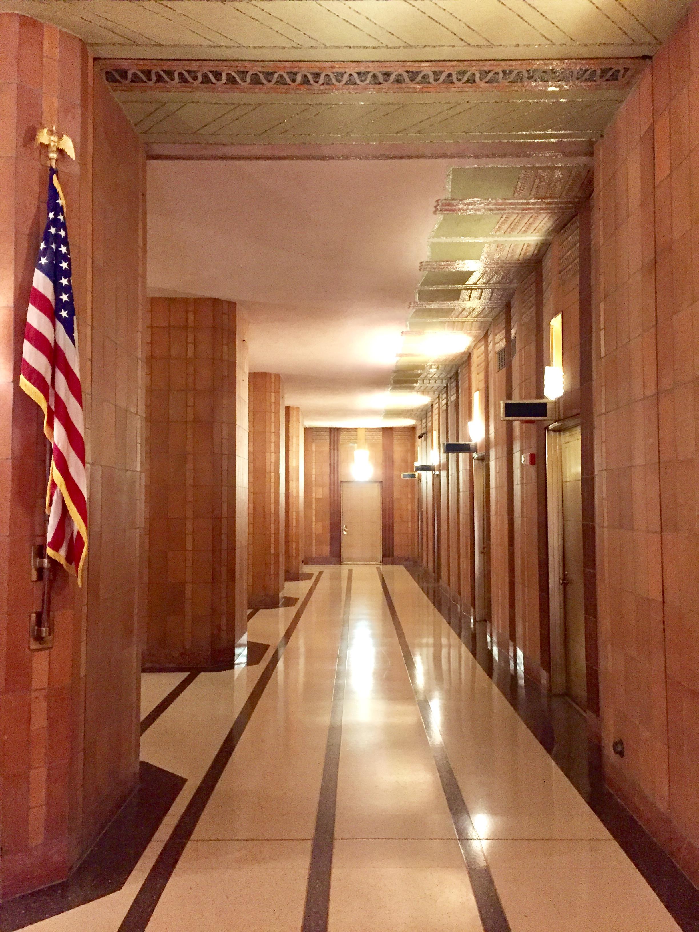 File:Art Deco Corridor ATu0026T Long Distance Building Lobby