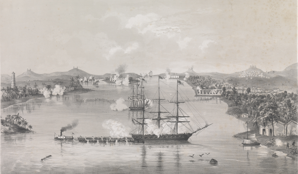 Attack on the Barrier Forts, Canton, China by the American squadron, 1856