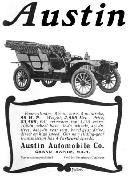 Austin Auto Ad on Under A Car Parts