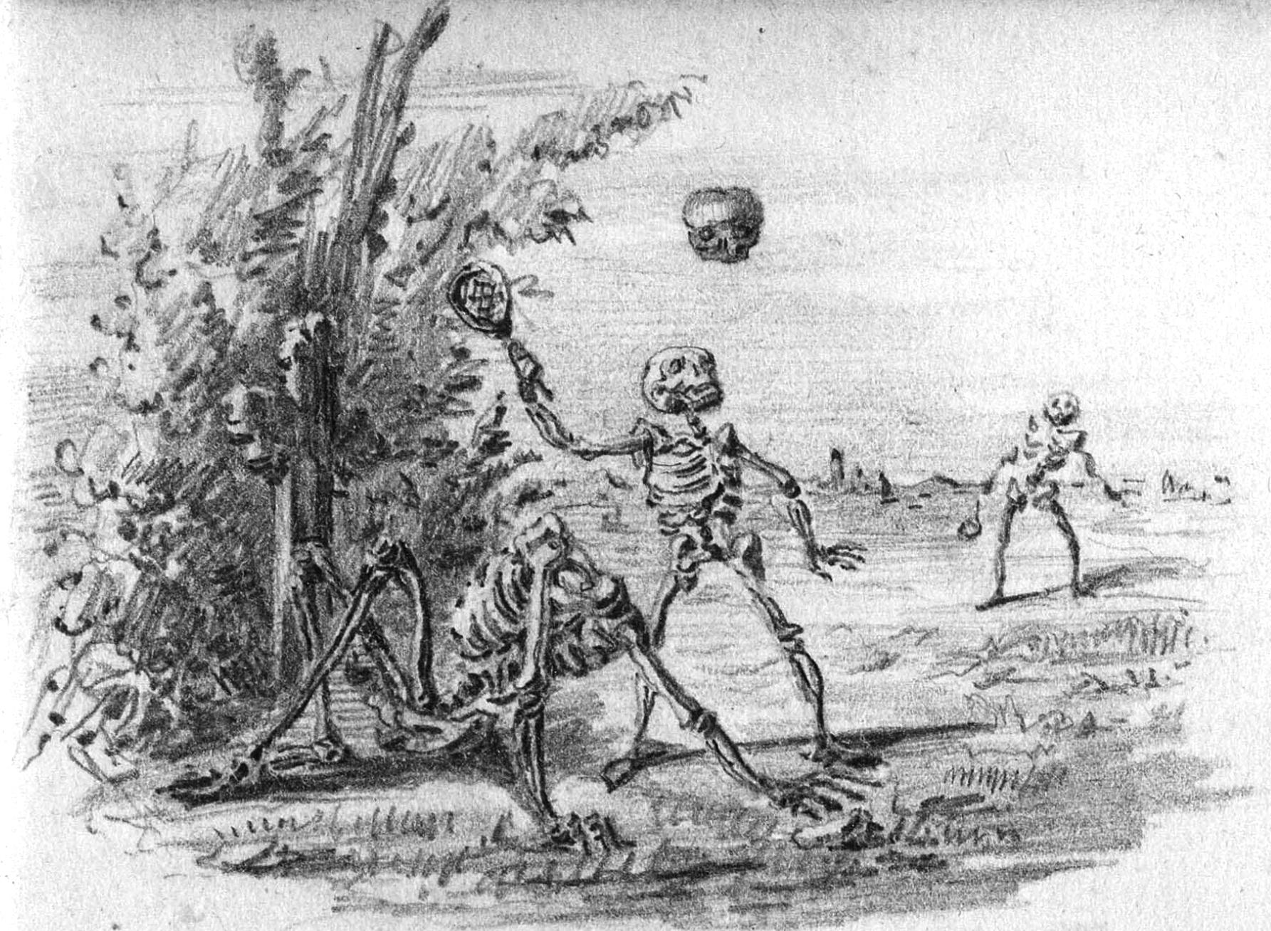 Uno de sus dibujos de la serie Les morts pour rire: Bizarreries.