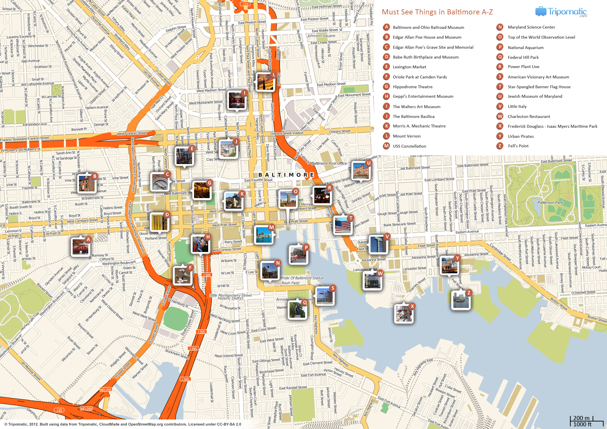 {FileBaltimore printable tourist attractions mapjpg Wikimedia – Tourist Attractions Map In Baltimore
