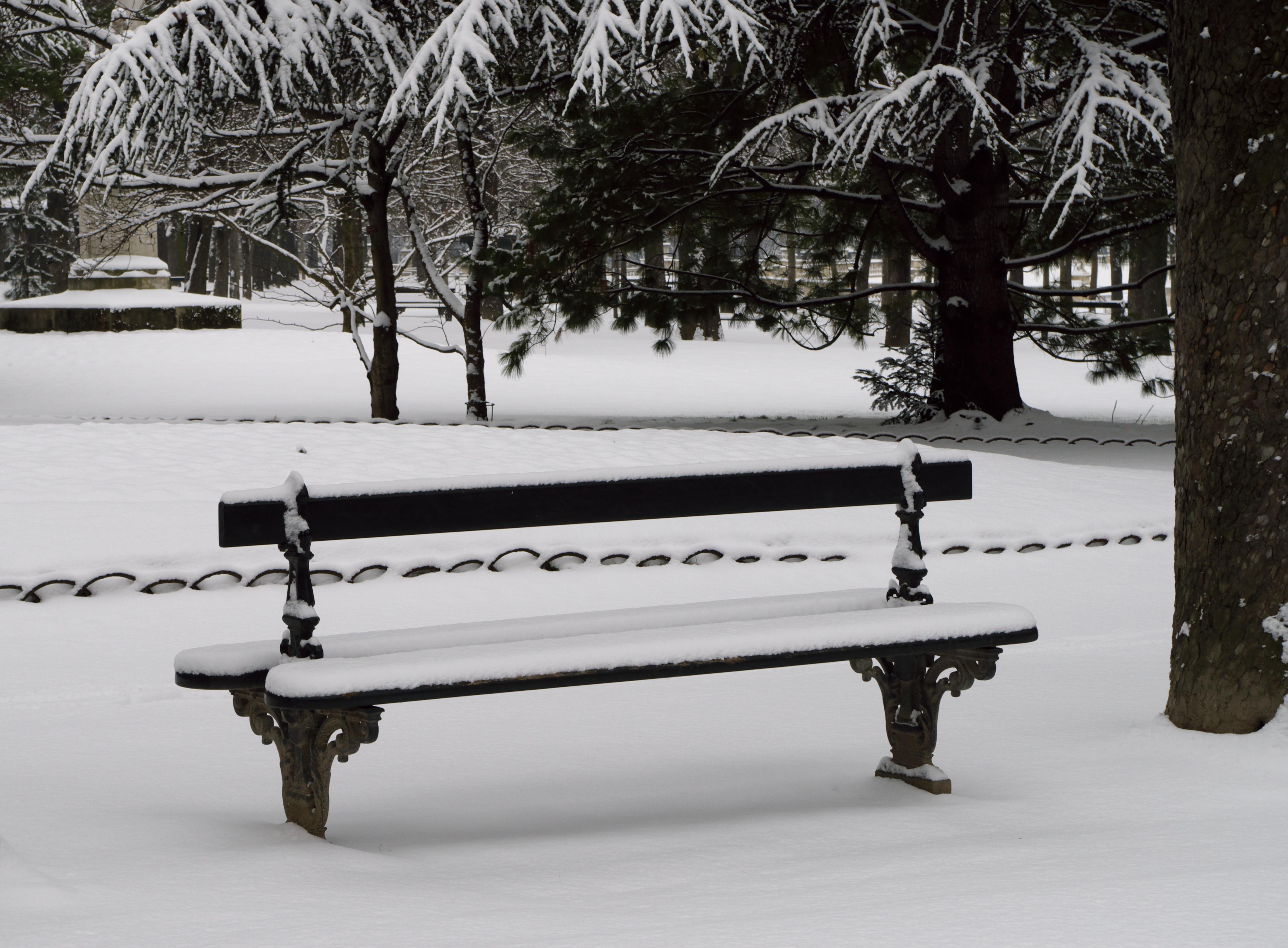 File Banc sous la neige au Jardin du Luxembourg Wikimedia