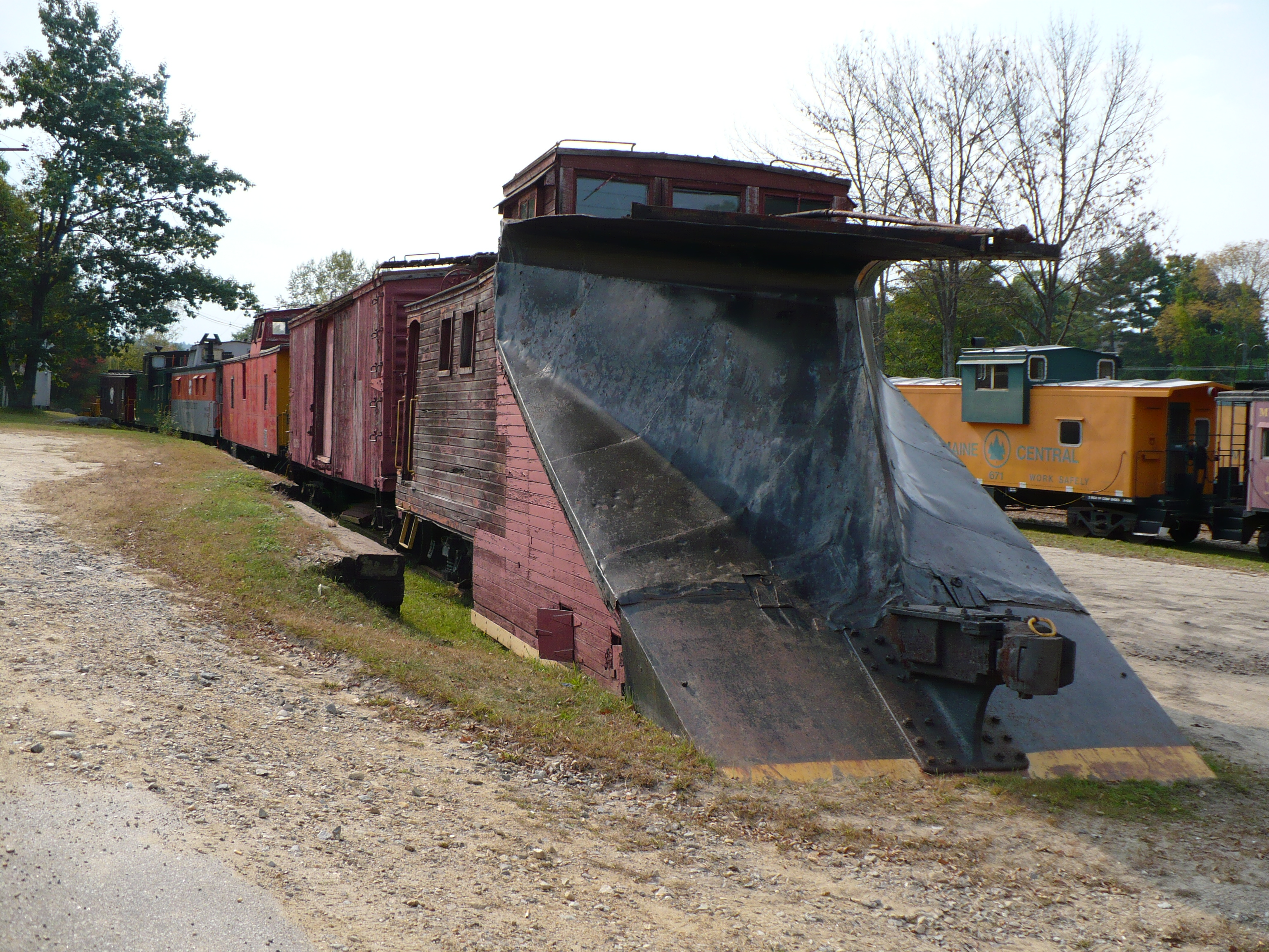 Plow on railroad
