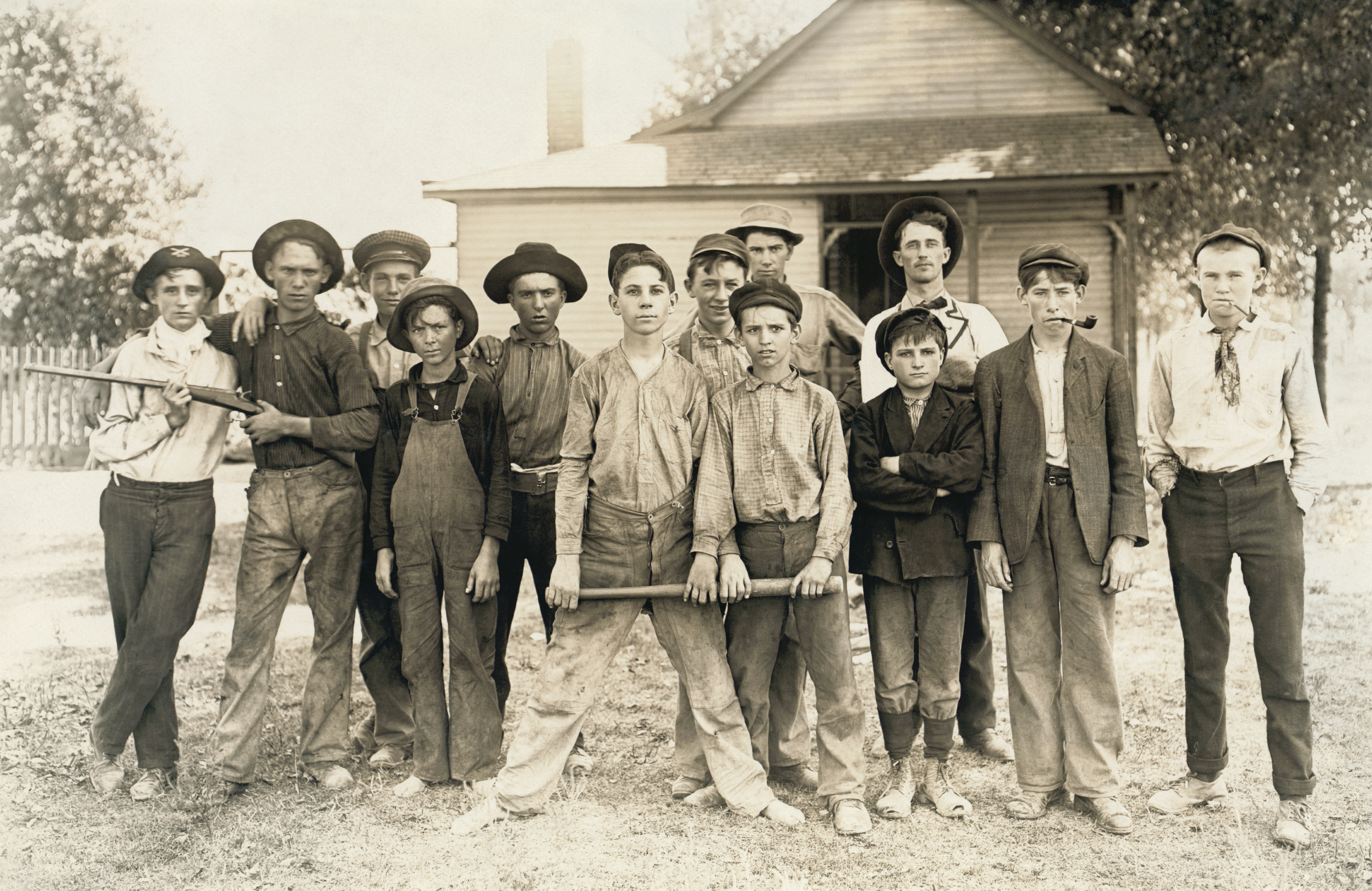 Baseball Teamposed Mostly Of Child Workers From A Glass Factory  Photograph By Lewis Hine, 1908