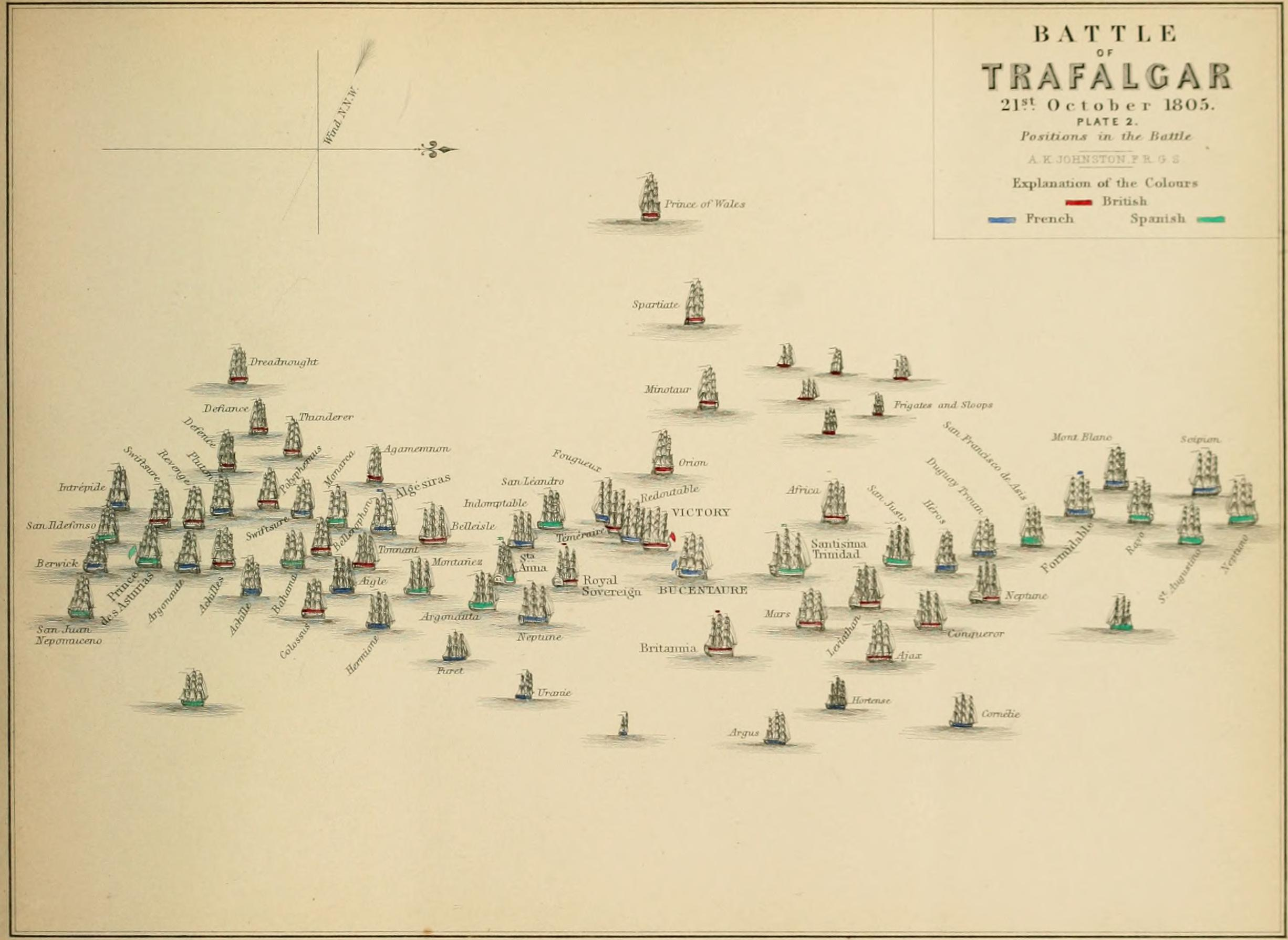 File:Battle of Trafalgar, Plate 2.jpg - Wikimedia Commons
