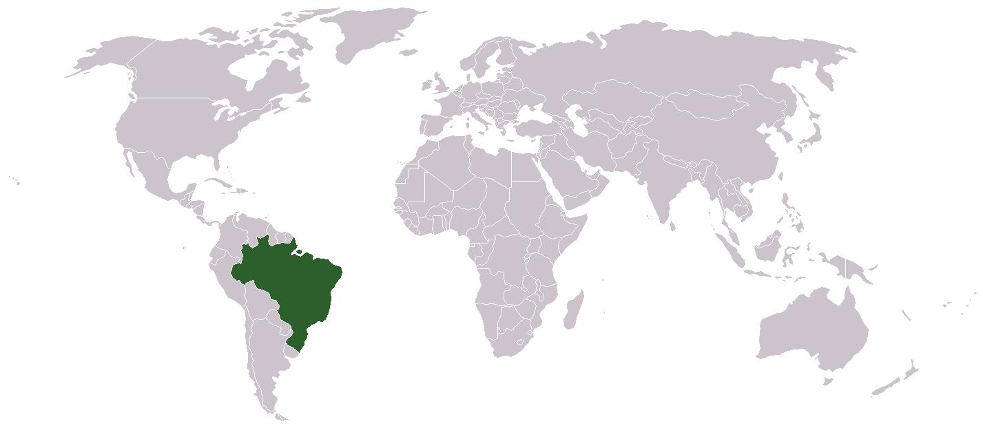 Image of: Maps World Map Brazil
