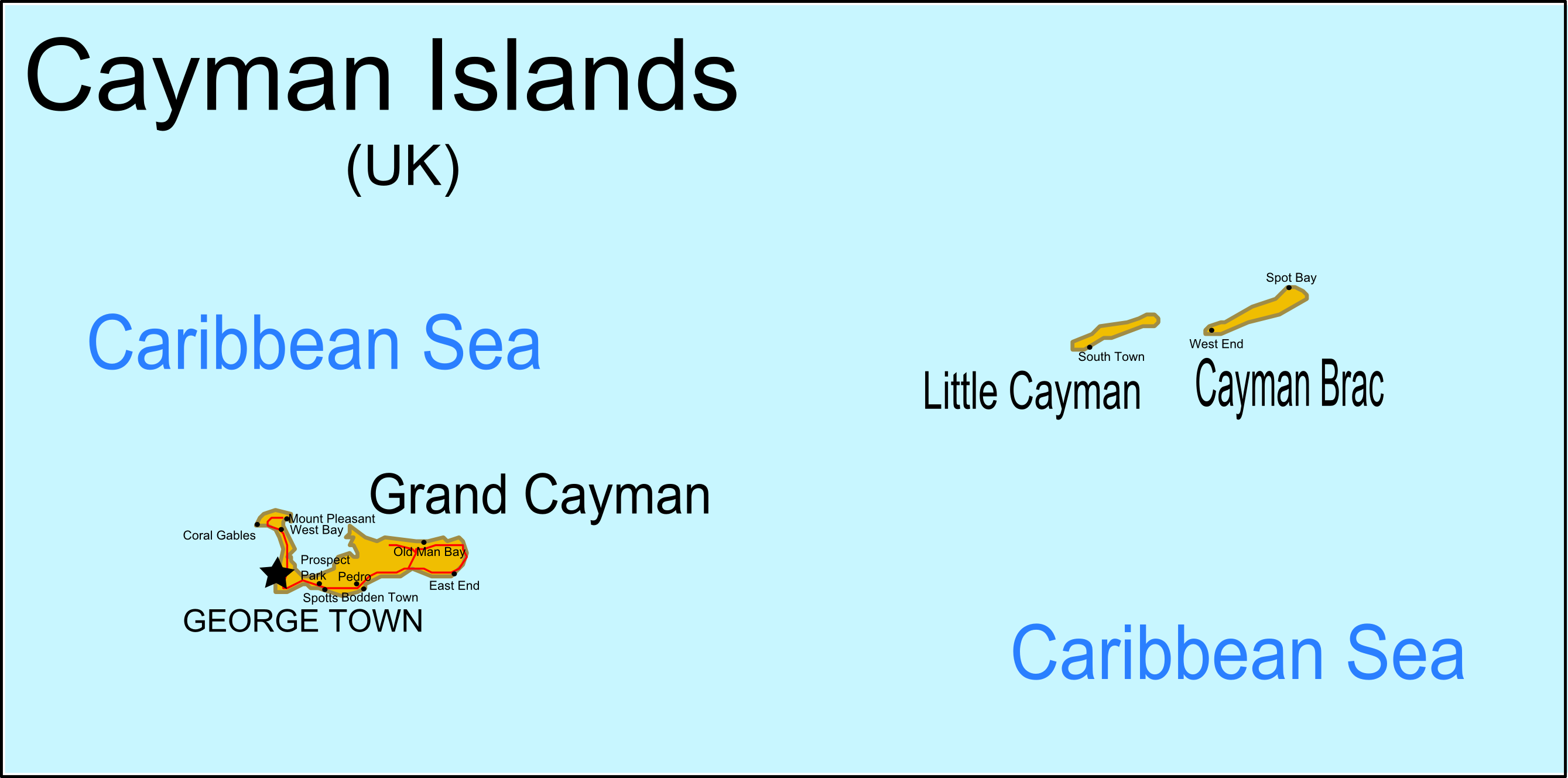 Cayman Islands Map Locations