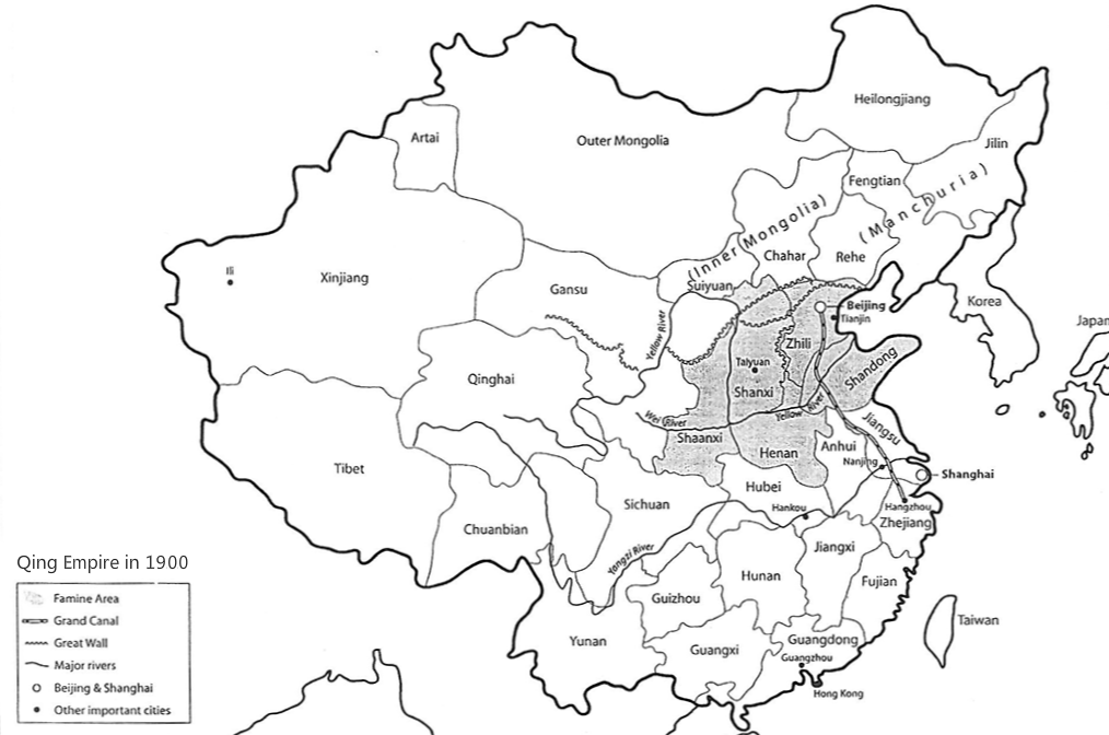 The gallery for --> Qing Dynasty Map