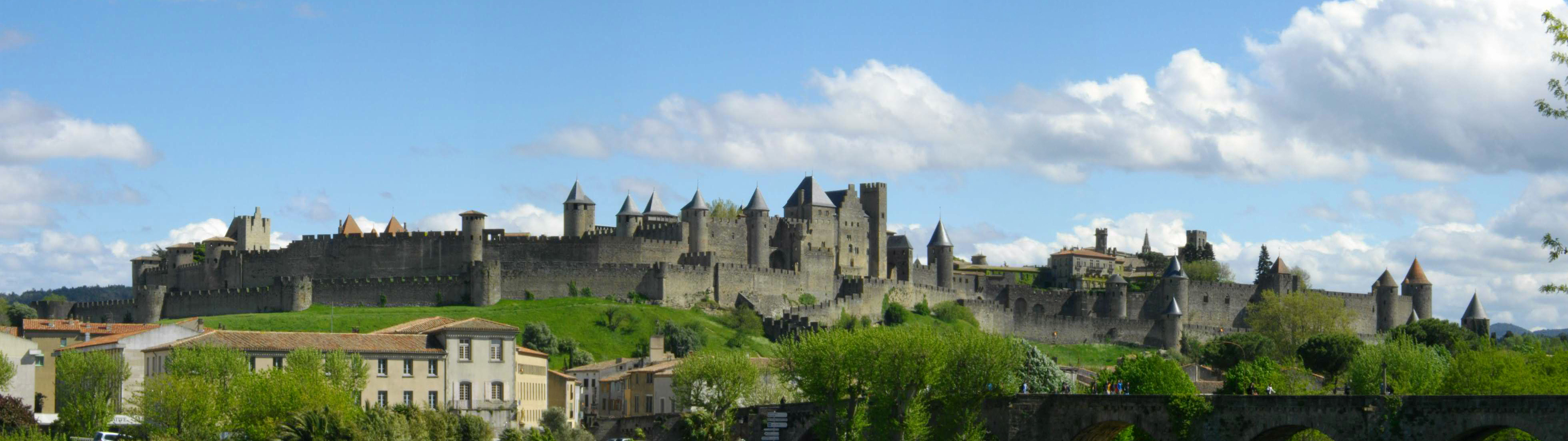 The castle in Carcassonne, France