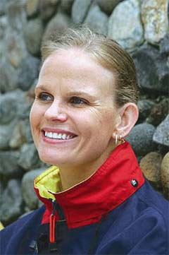 Claudia Poll won Costa Rica's first Olympic gold medal in 1996. Claudia Poll.jpg