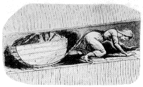 Girl pulling a coal tub in mine. From official report of the parliamentary commission in the mid-19th century. Coaltub.png