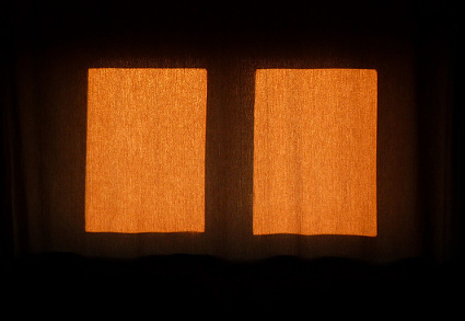 D Barrie Sun through the curtains II 2008 Rothkoesque crop