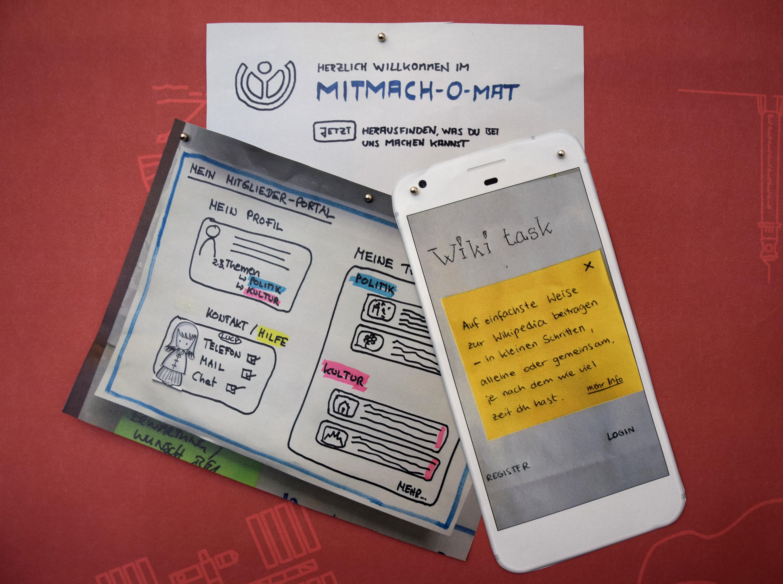File:Design Thinking Workshop WMDE Prototypen jpg