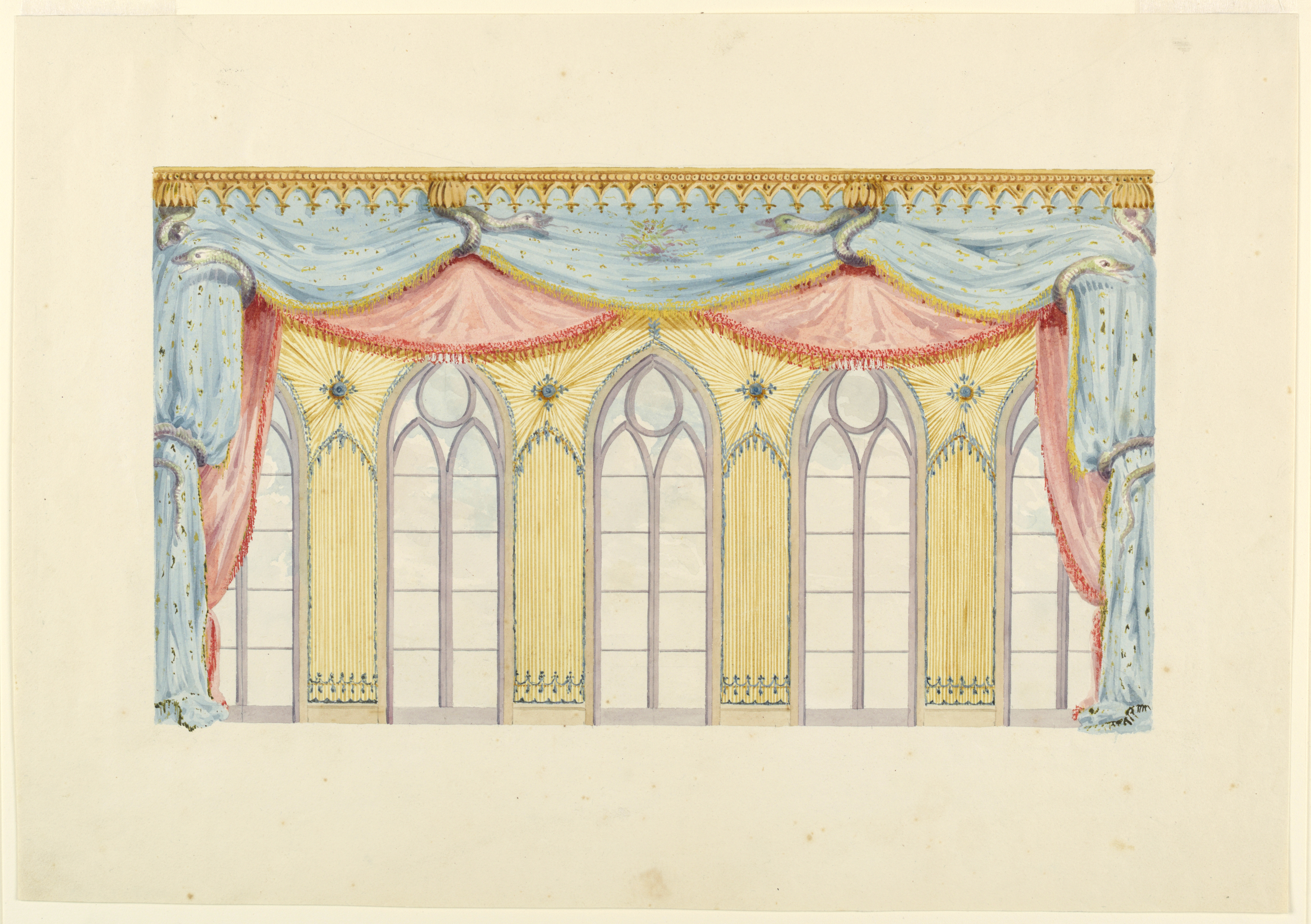 File:Drawing, Window Decoration, Probably for the East Wall of the ...