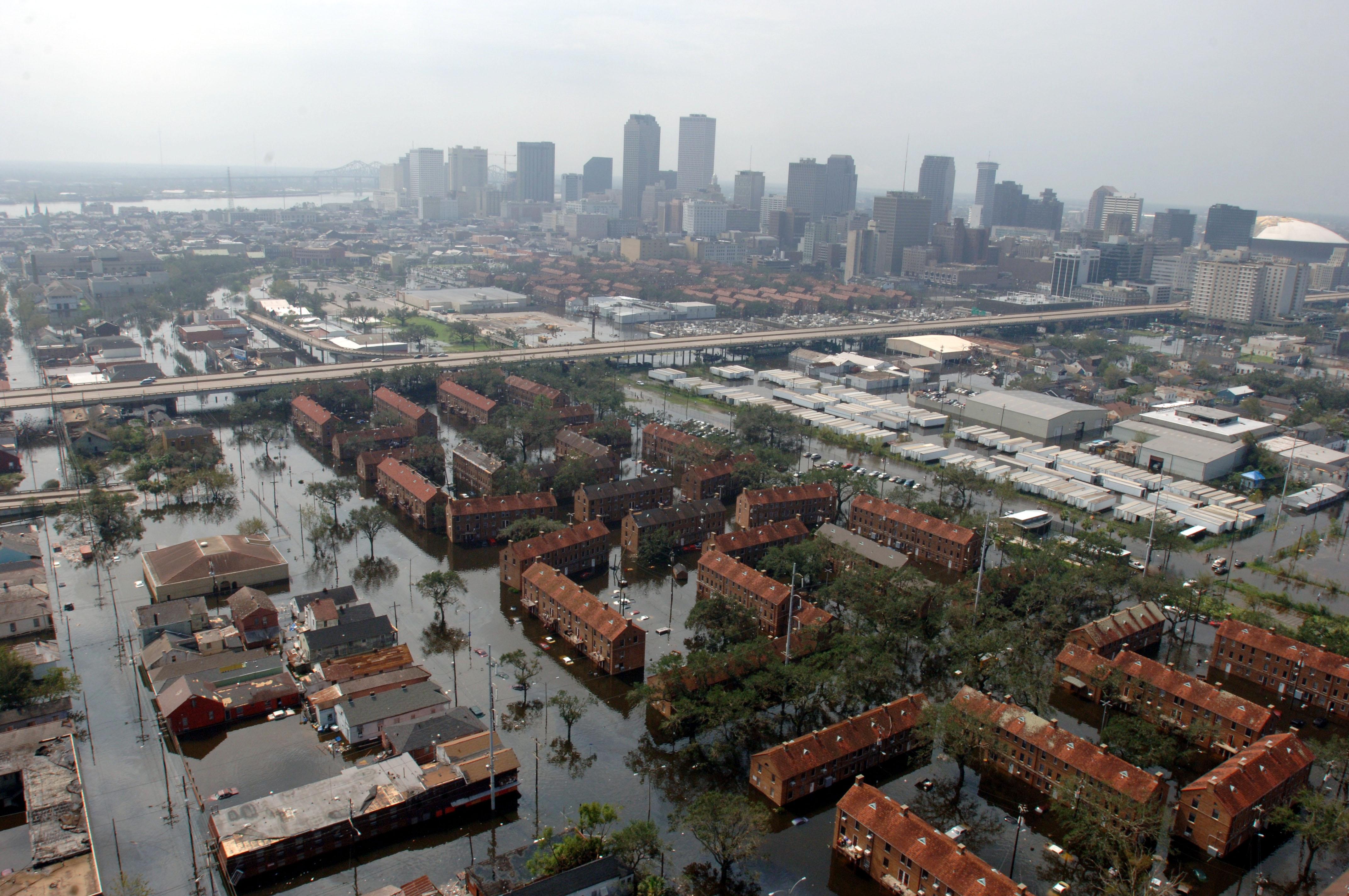 Hurricane Katrina caused over $80 billion of storm and flood damage