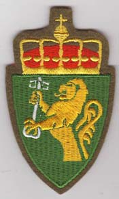 Shoulder patch worn by NORDSS military personnel on no.2 service uniforms