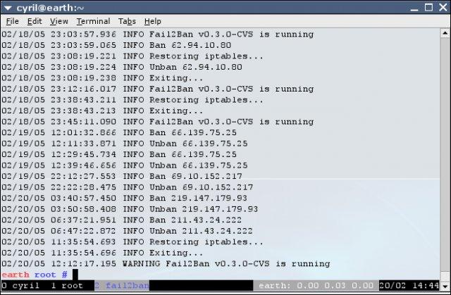 fail2ban output log