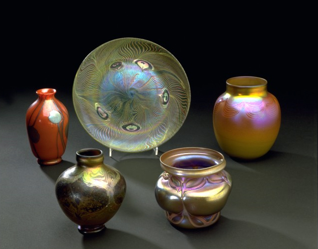 Blown favrile glass, 1896-1902, Louis Comfort Tiffany V&A Museum no. 1447-1902