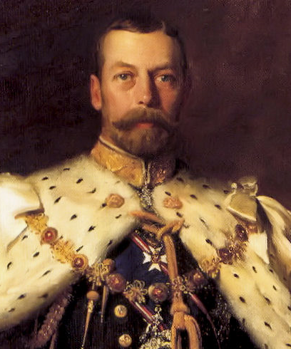 George V in his coronation robes