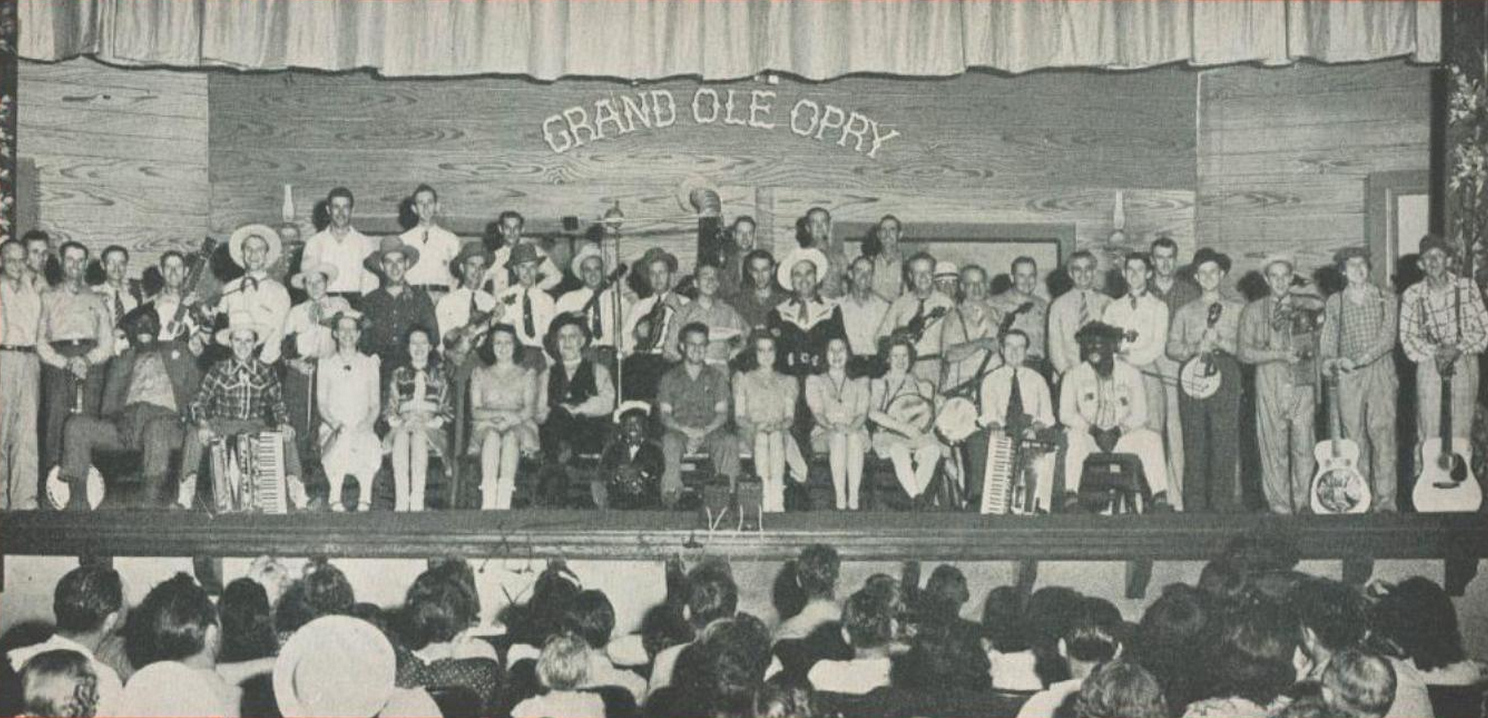 Grand Ole Opry performers in 1944, from Billboard's 1944 Music Yearbook via Wikimedia Commons