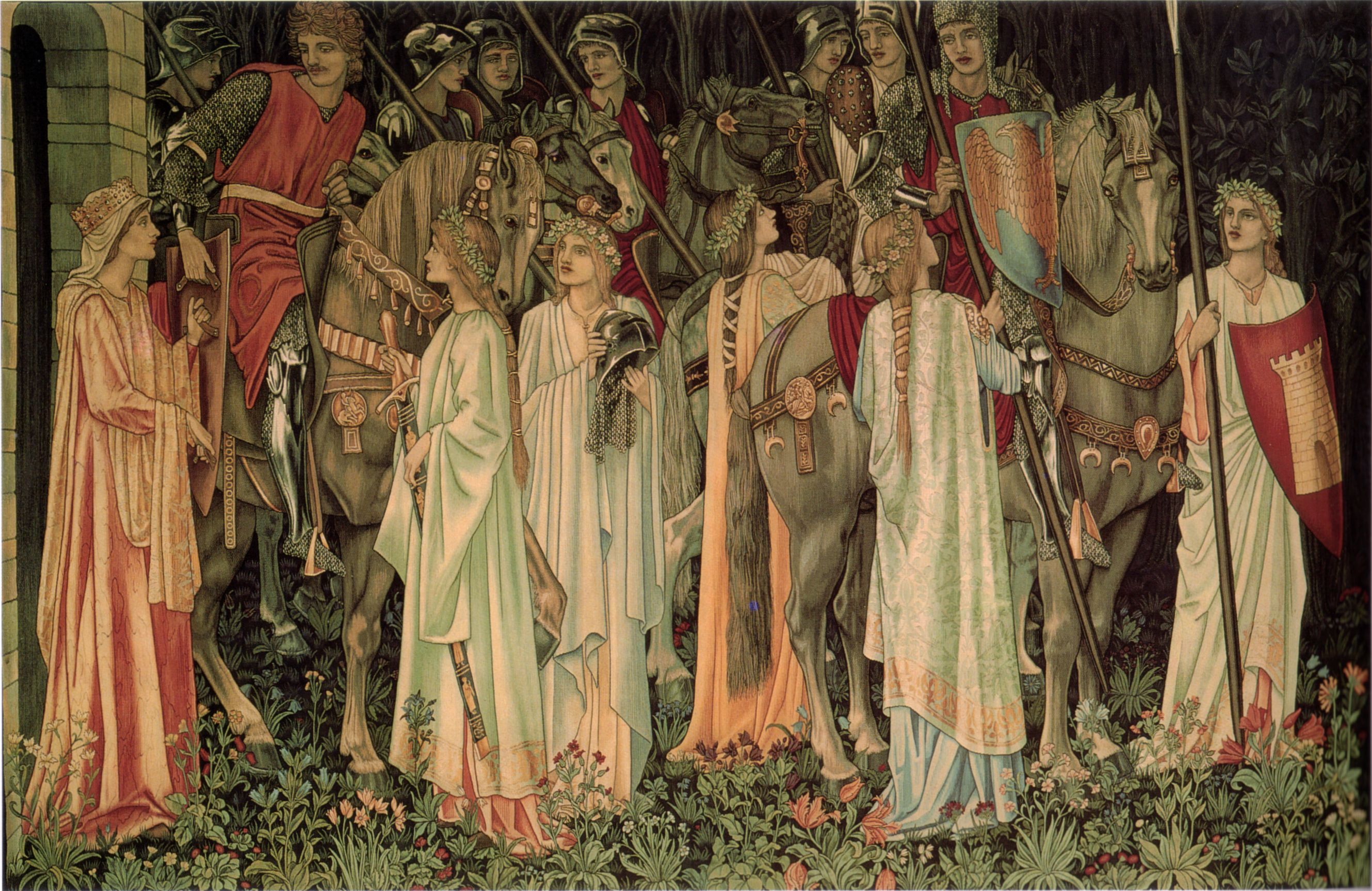 Holy Grail Tapestry -The Arming and Departure of the Kniights.jpg