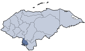 Location of Valle department