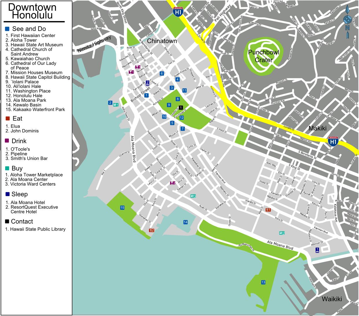 File:Honolulu downtown map.png - Wikimedia Commons
