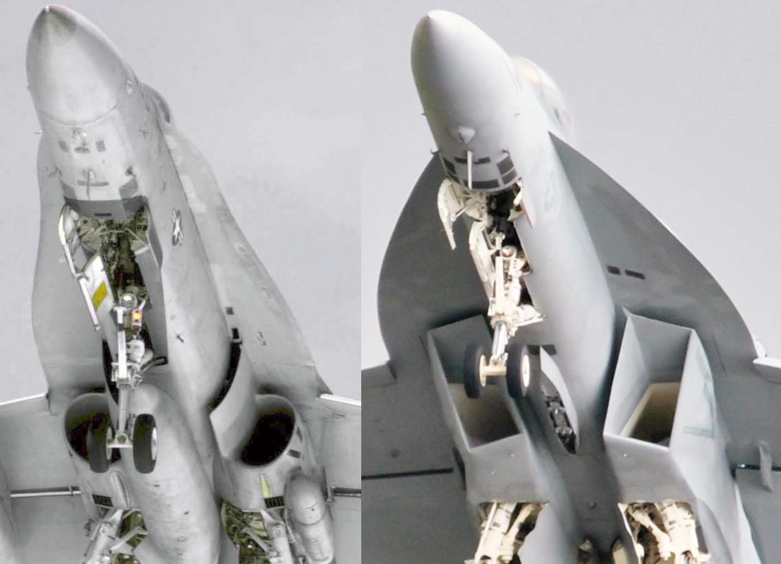 F18 hornet vs Super Hornet  Hornet_vs_Superhornet