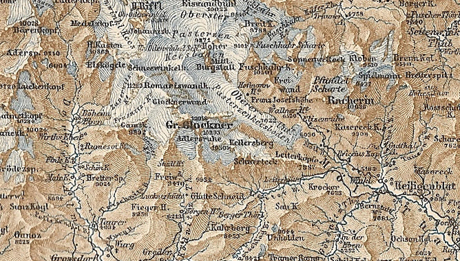 Großglockner Karte.Datei Karte Baedeker Großglockner Vergrößert Jpg Wikipedia