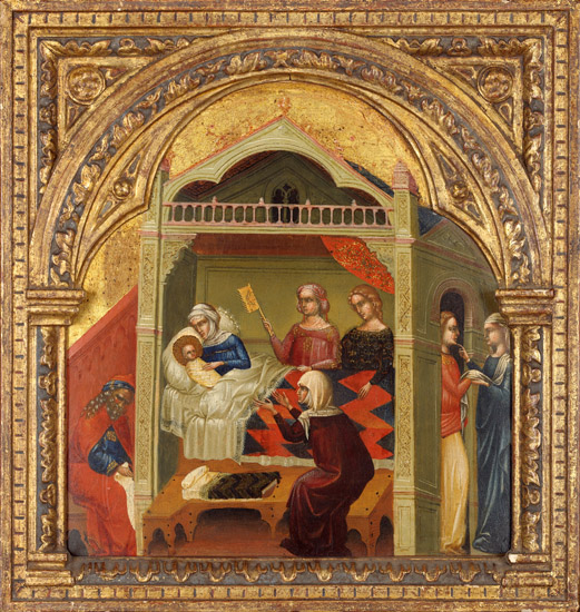Lorenzo Veneziano The Birth of st John the Baptist. Wildenstein & Co. 1350-56