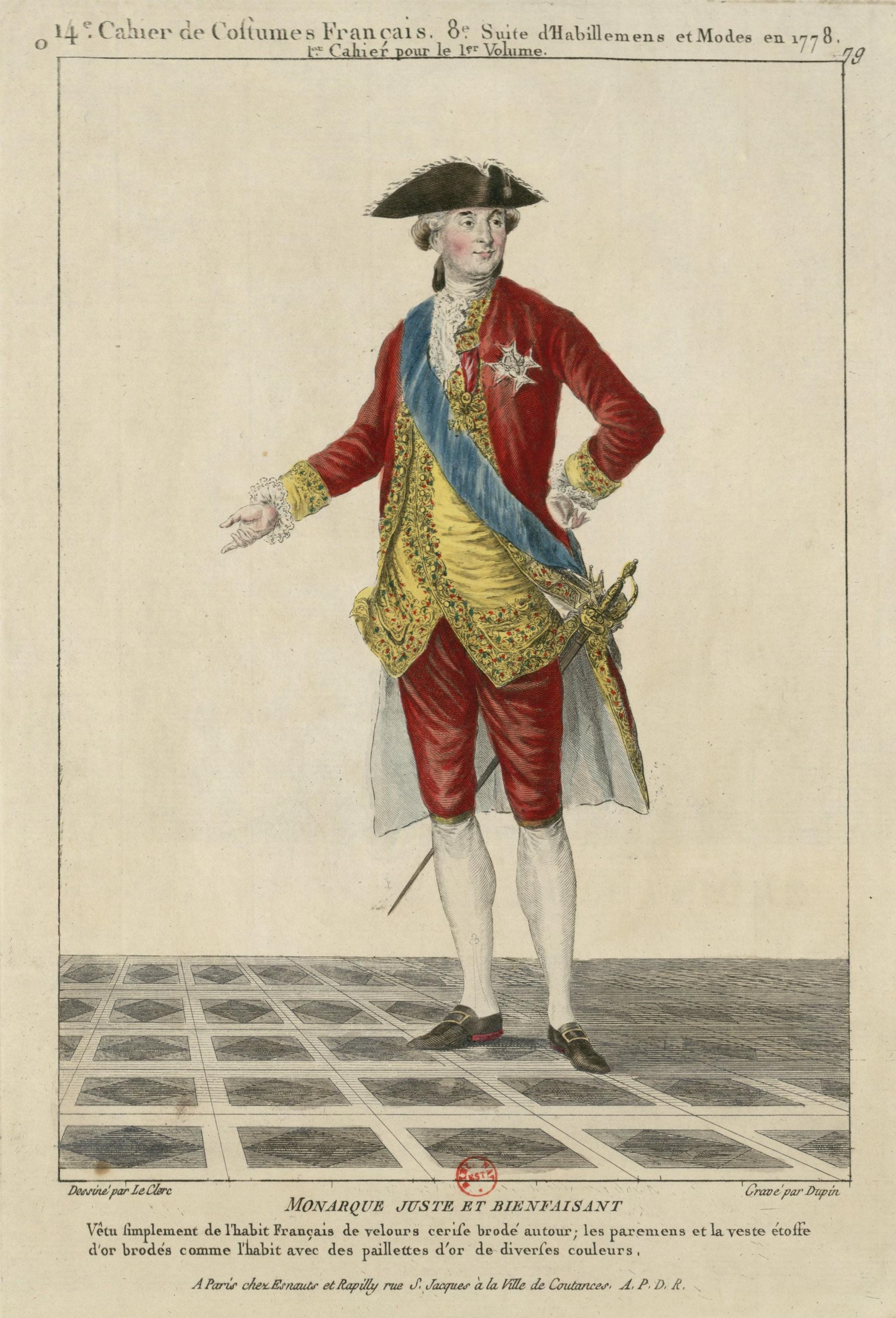 Louis Xvi C Habit Et Culotte De Velours Cerise