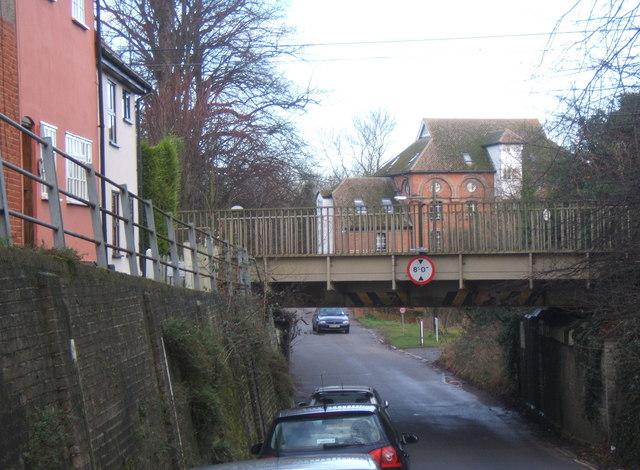 File:Low railway bridge, Hawks Mill Street, Needham Market - geograph.org.uk - 653765.jpg