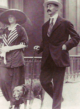 John Jacob Astor IV with his Terrier Kitty