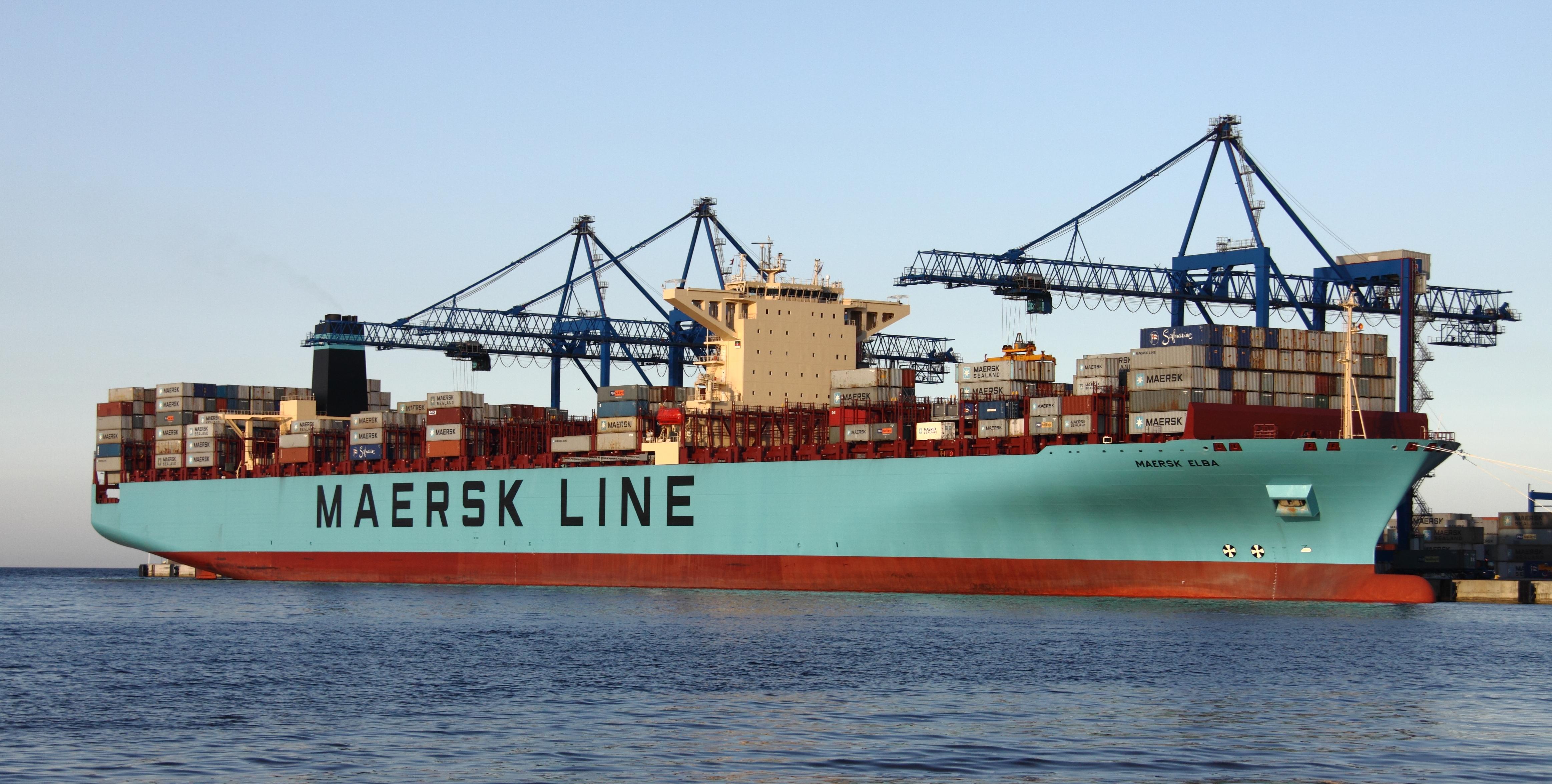 File maersk elba jpg wikimedia commons - Le plus gros porte conteneur de chez maersk ...