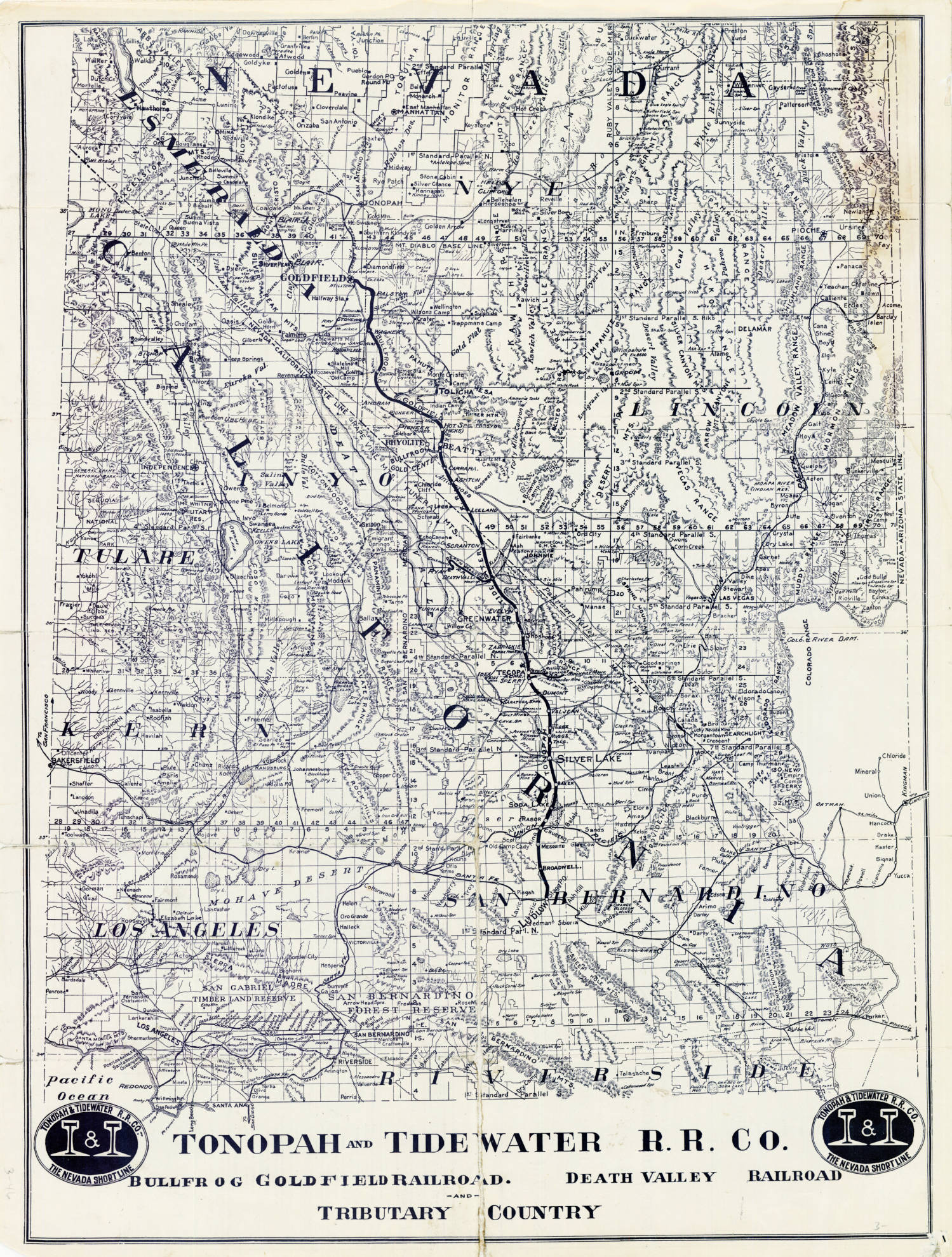 File:Map showing Tonopah Tidewater Railroad Company line from Ludlow on nevada military map, nevada transportation map, nevada map with latitude and longitude, nevada speed limit map, nevada farms, nevada gold maps, carlin trend nevada map, nevada largest cities, nevada transmission line map, nevada rivers, nevada lakes map, freight train routes california map, nevada road map, u.s. geothermal map, eagle valley nevada map, nevada utilities map, nevada reservoirs, nevada abandoned railroads, nevada on map, nevada gis geologic maps,
