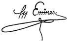 Η υπογραφή του Μιχαήλ Εμινέσκου