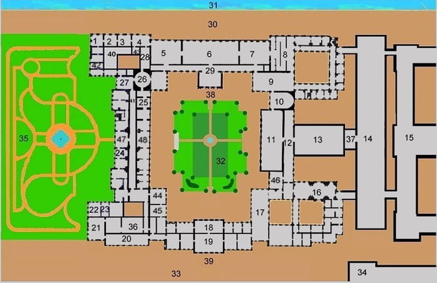 Image gallery hofburg palace floor plan for Palace plan