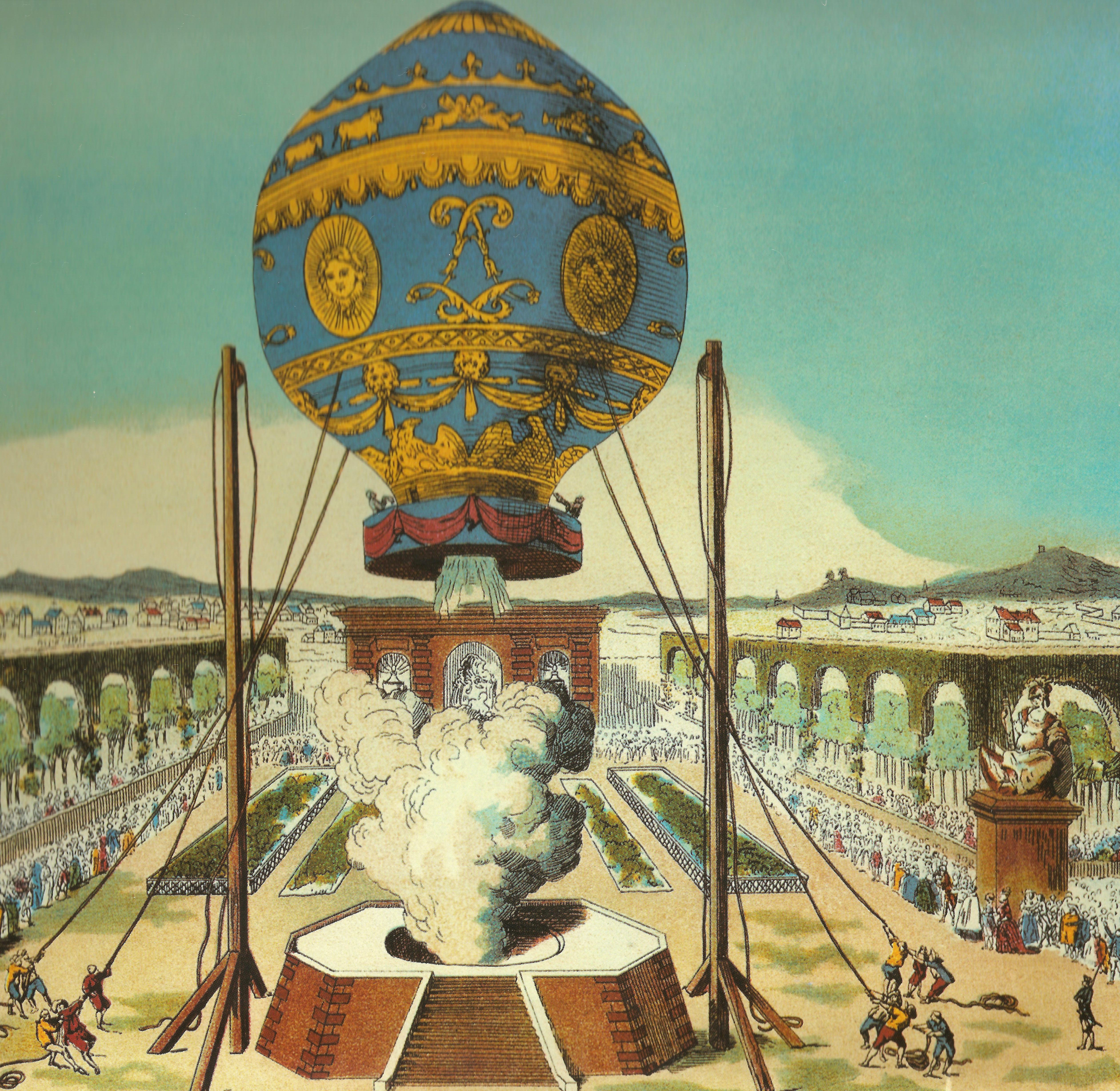 Hot air balloon flight 1783