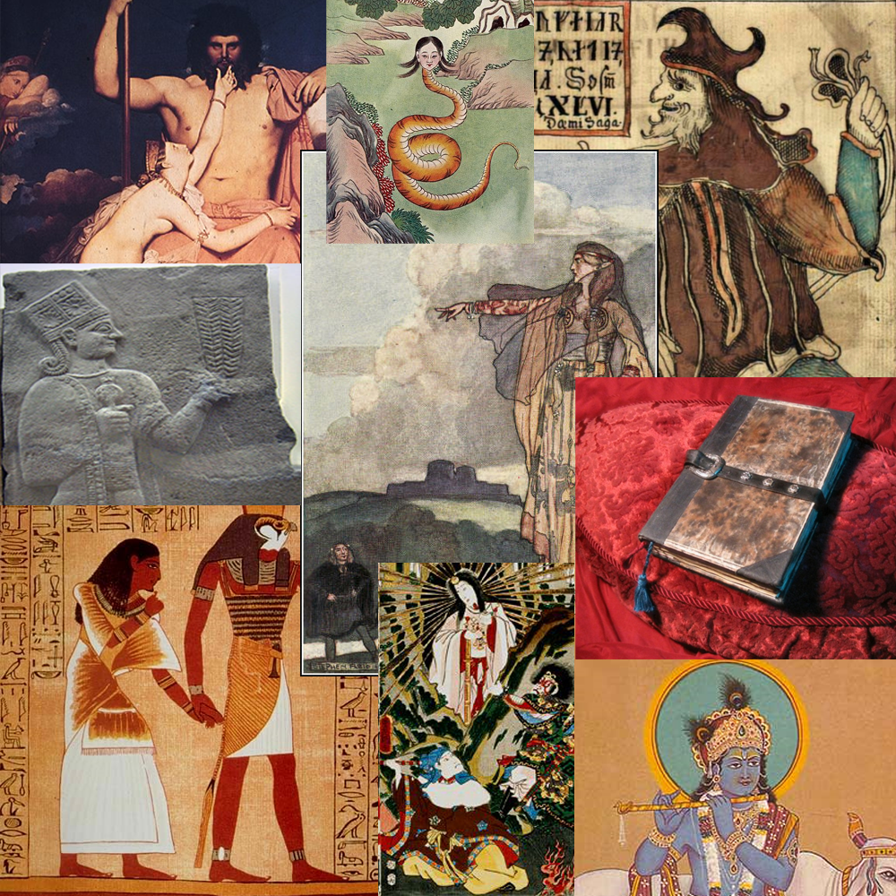 Various Mythological  Roman, Greek, Egyptian, Asian,and Hindu images
